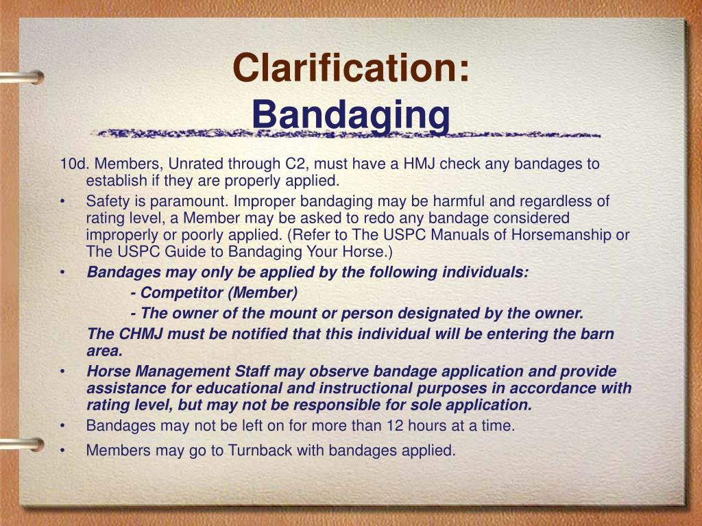 Clarification: