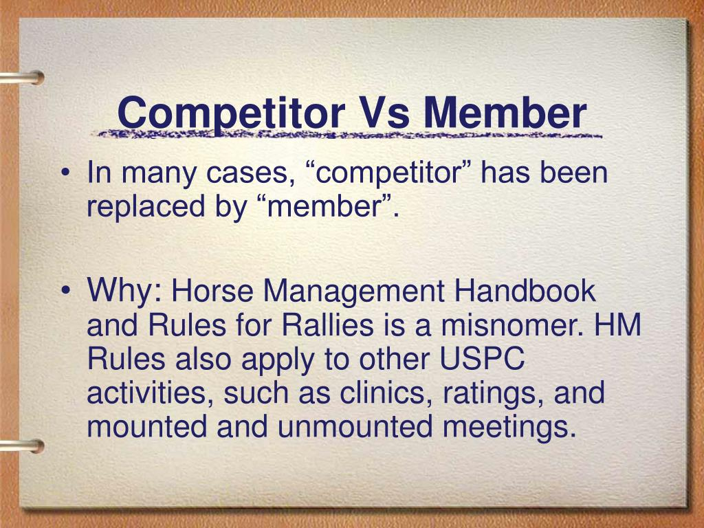 Competitor Vs Member