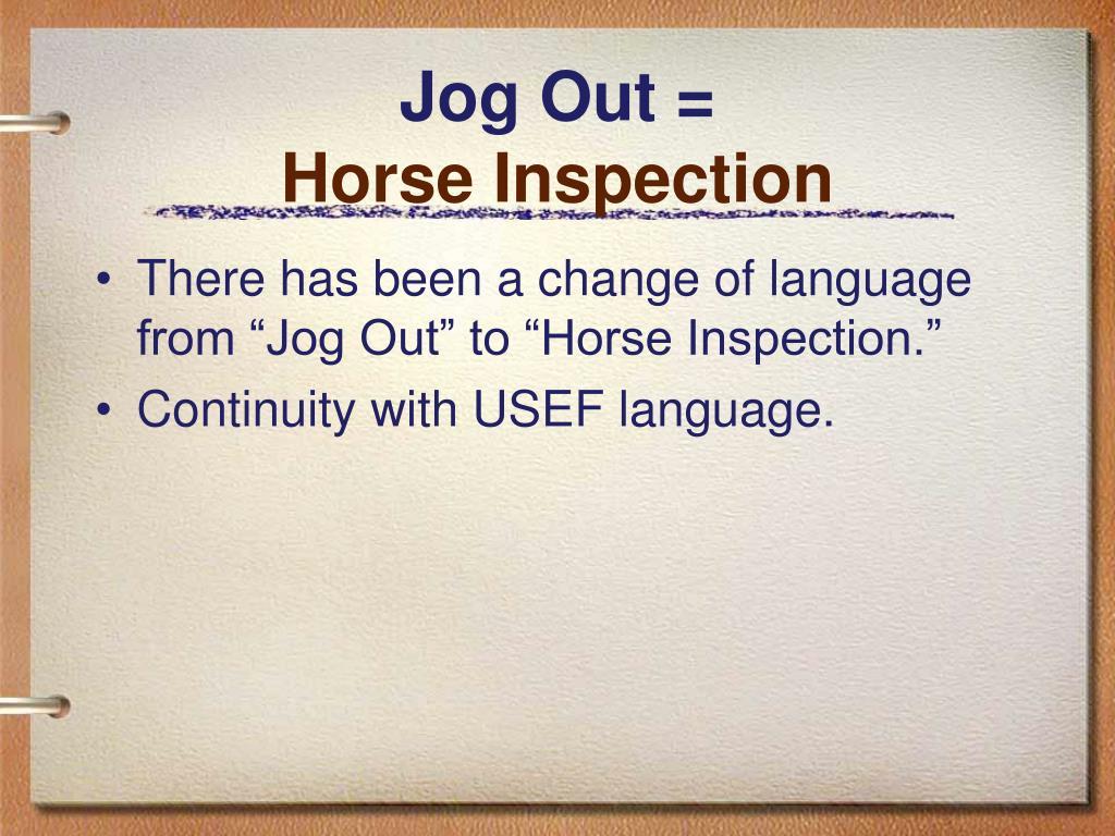 Jog Out =