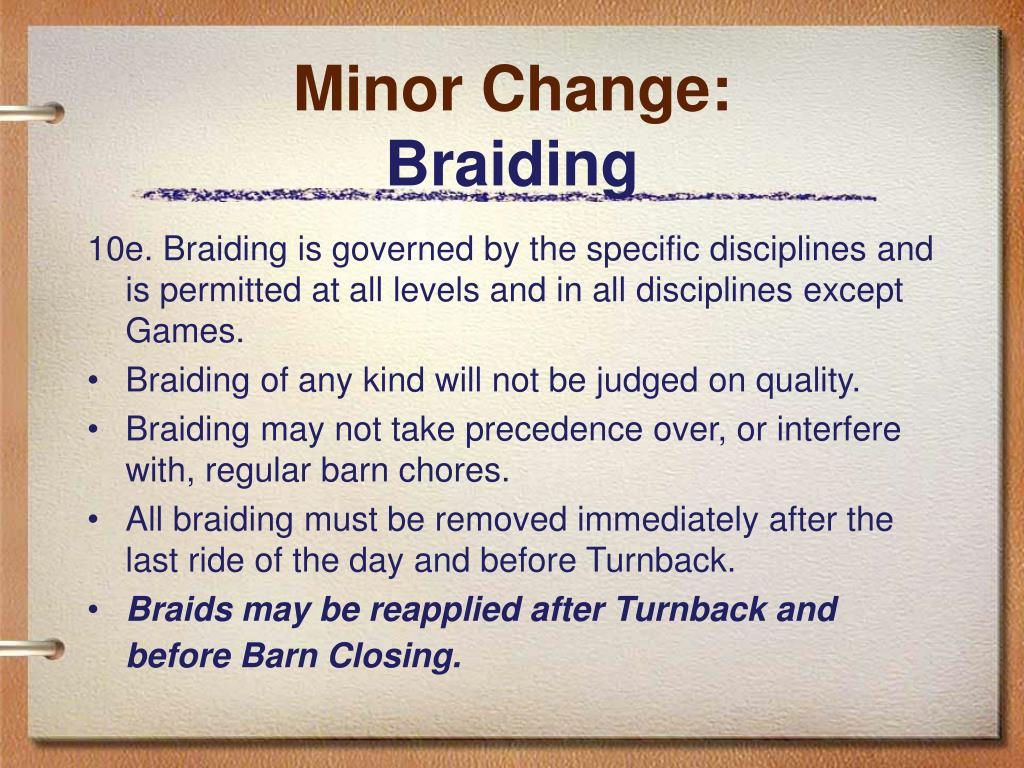 Minor Change: