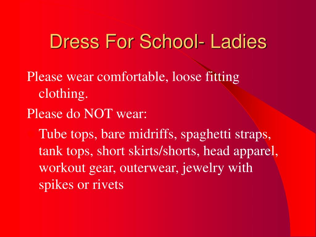 Dress For School- Ladies