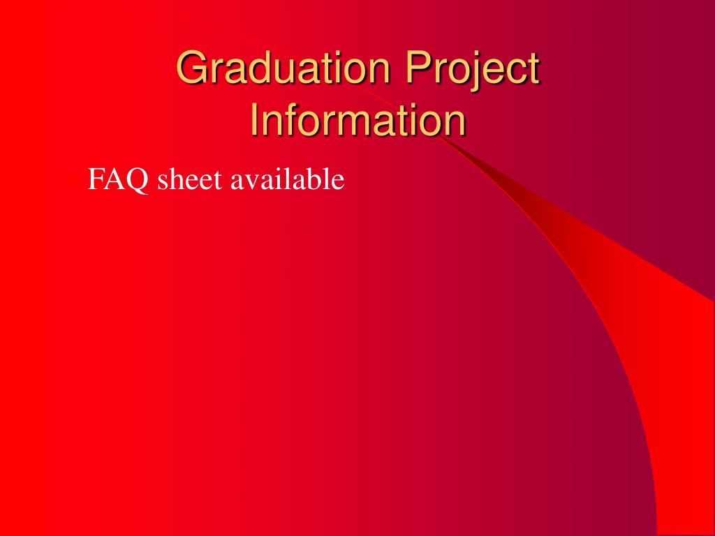 Graduation Project Information