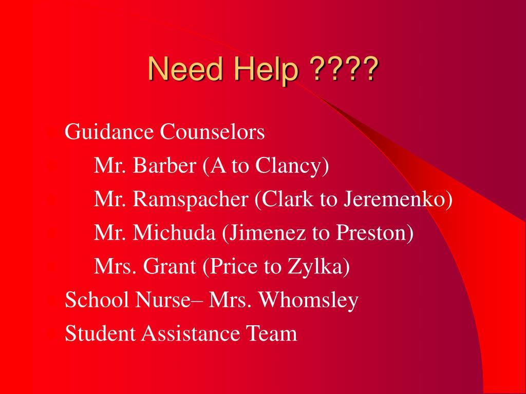 Need Help ????