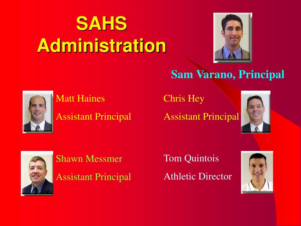SAHS Administration