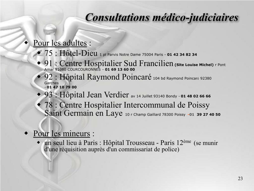 Consultations médico-judiciaires