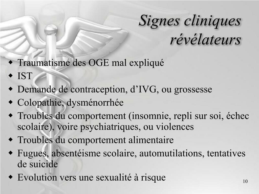 Signes cliniques révélateurs
