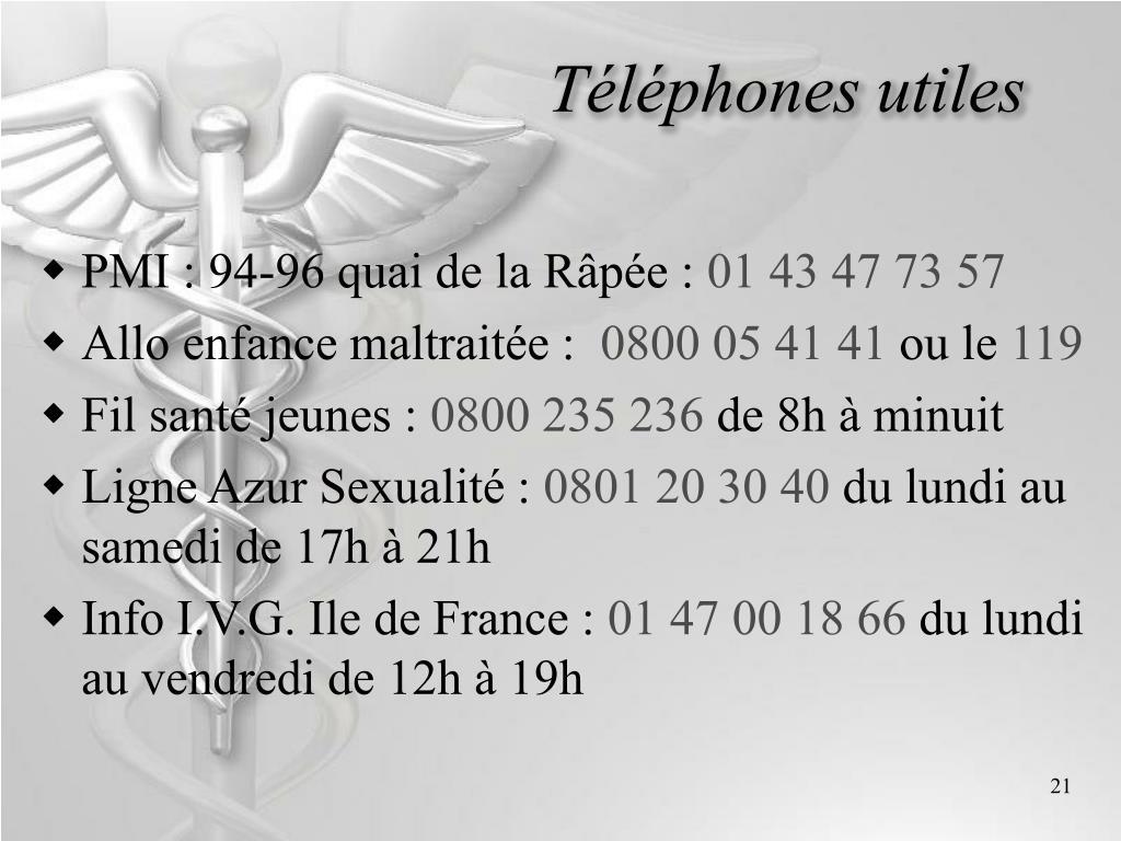 Téléphones utiles