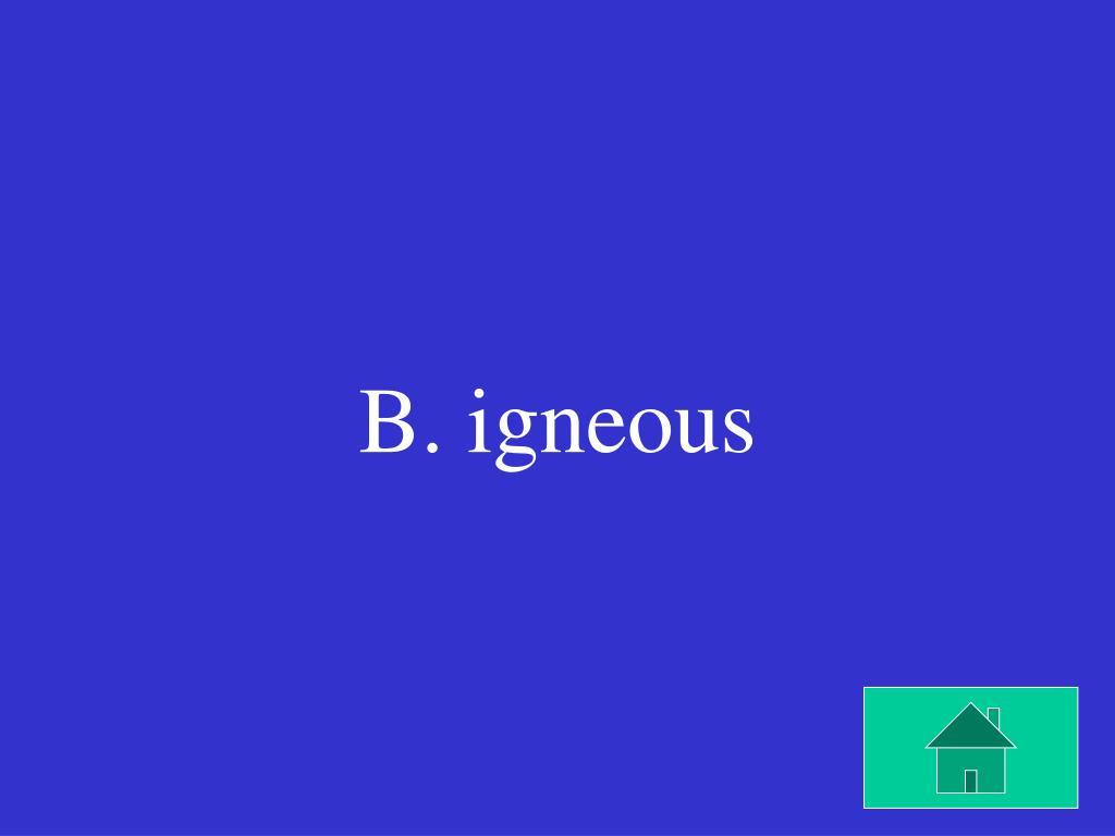 B. igneous