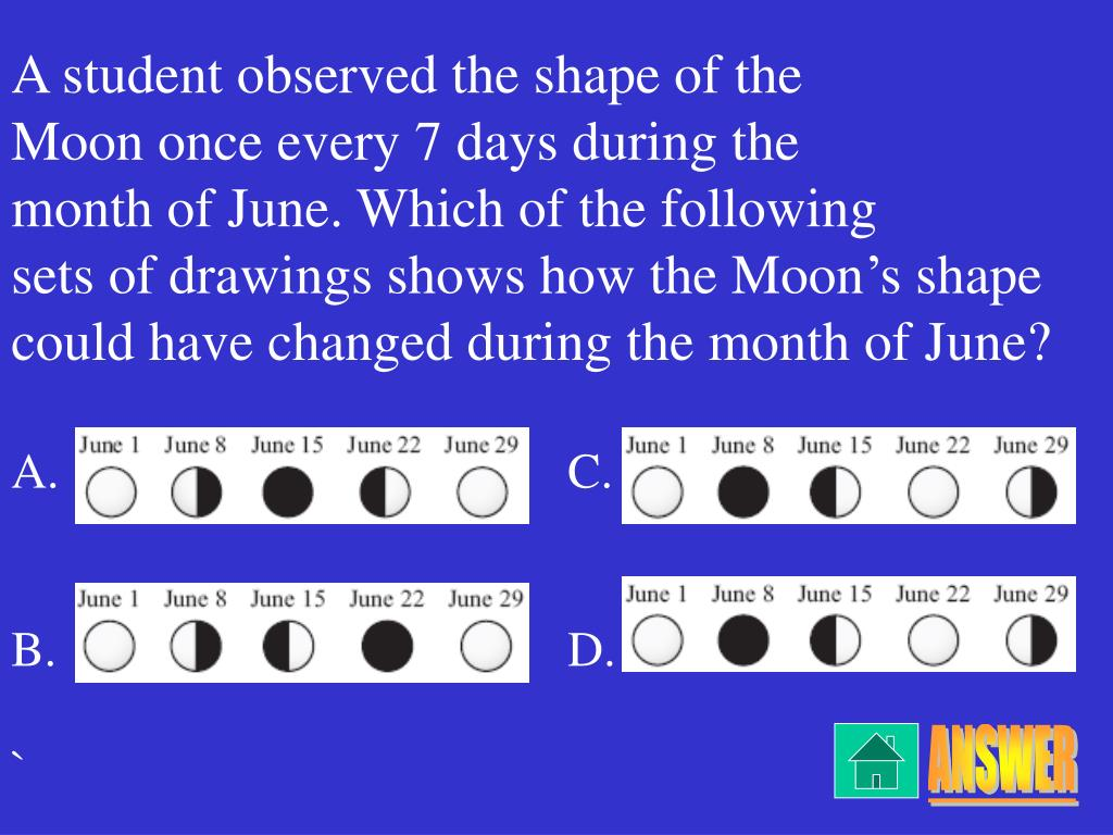A student observed the shape of the
