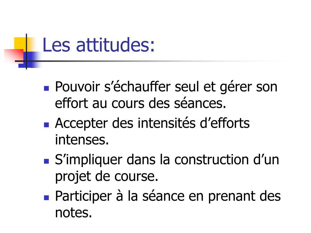 Les attitudes: