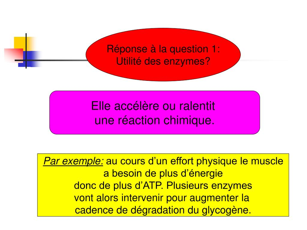 Réponse à la question 1: