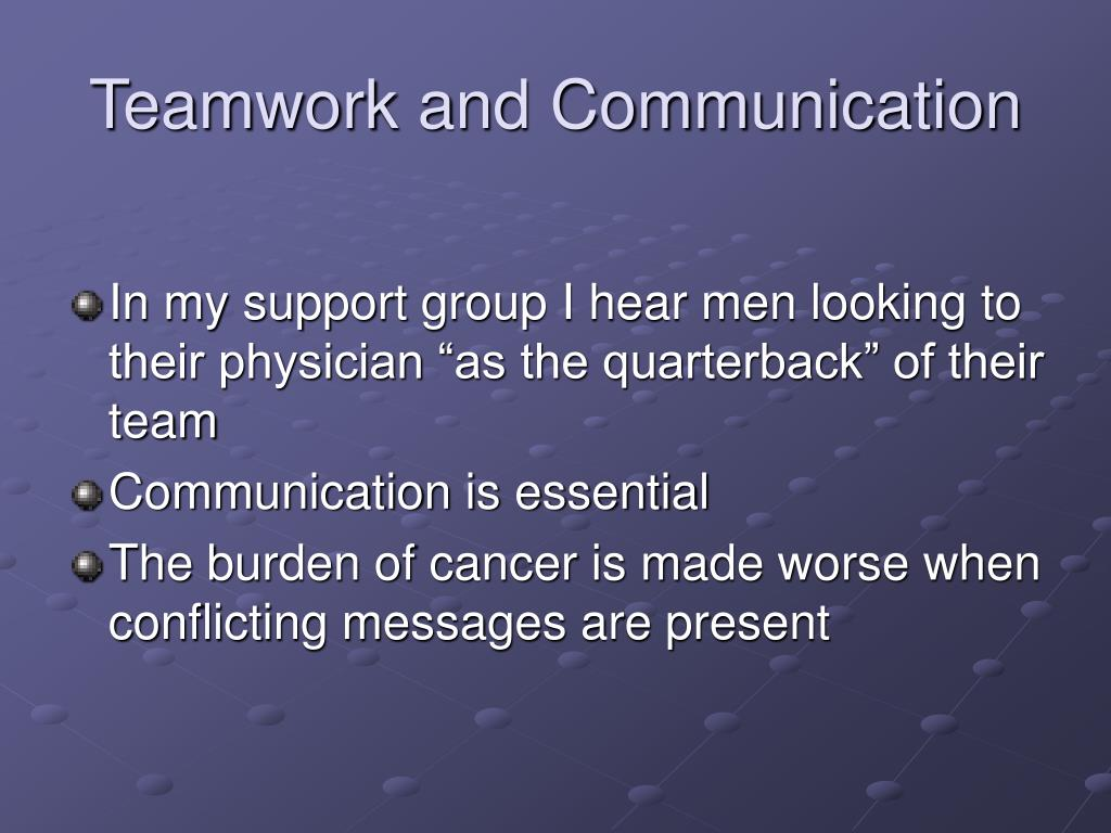 Teamwork and Communication