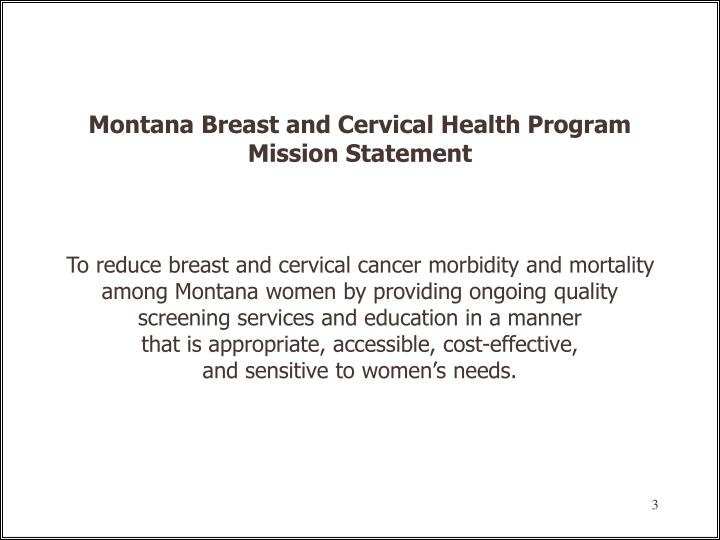 Montana Breast and Cervical Health Program
