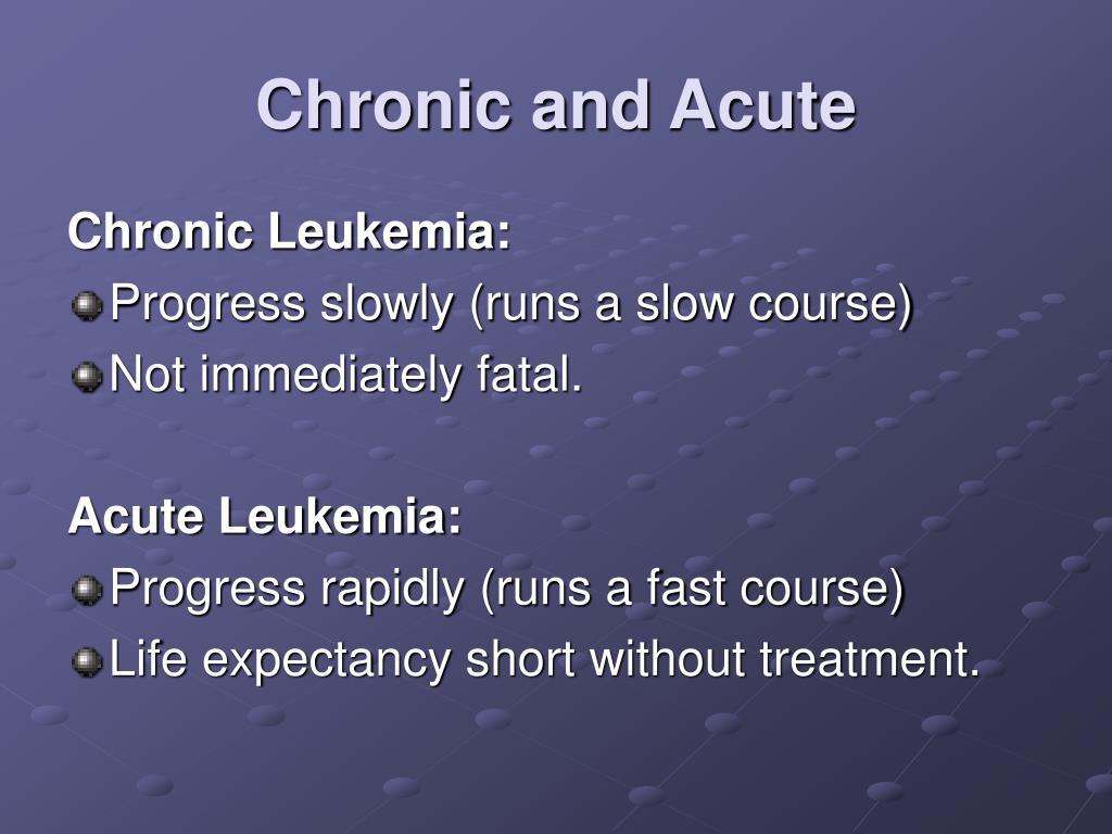 Chronic and Acute