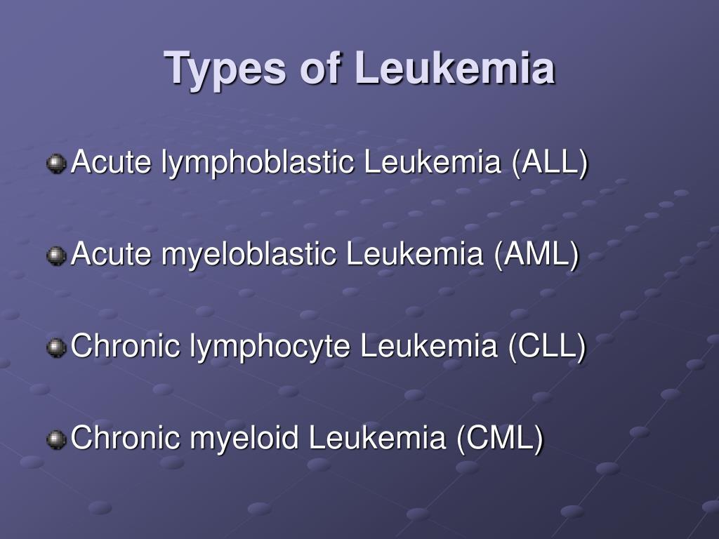 Types of Leukemia