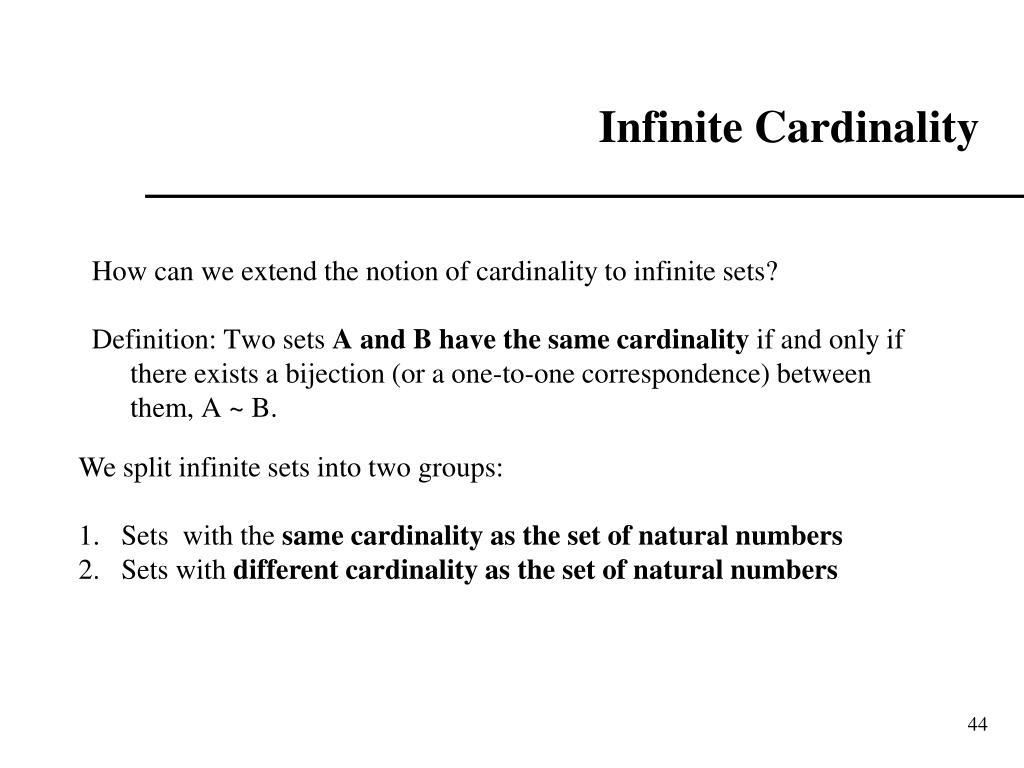 Infinite Cardinality