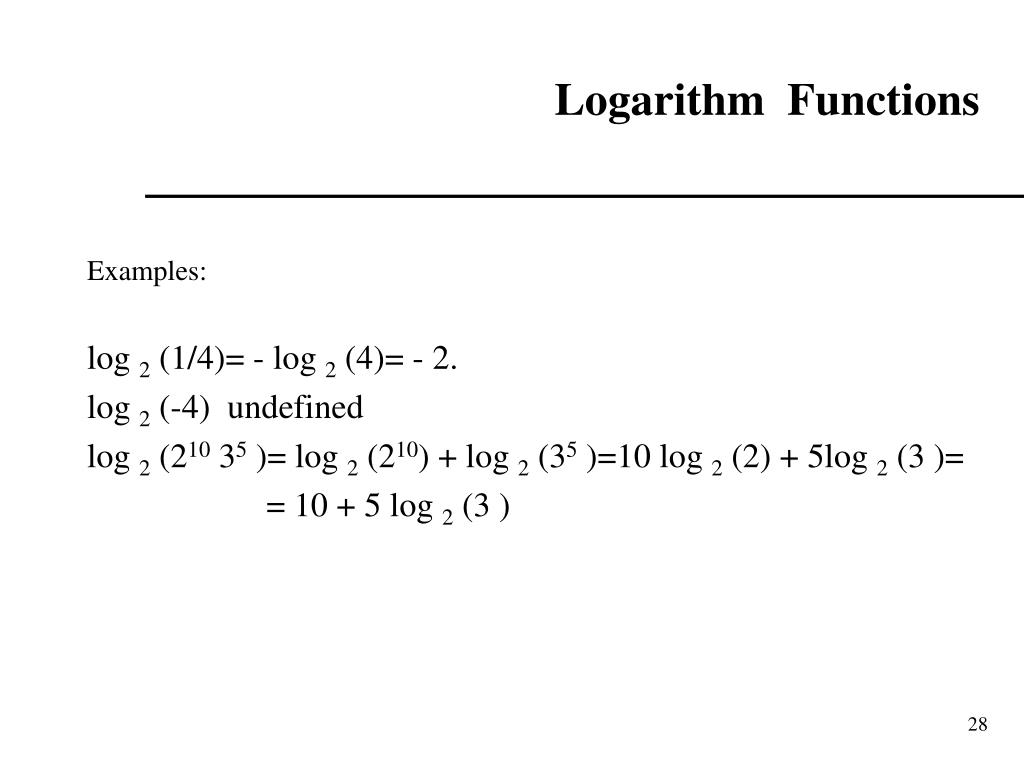 Logarithm  Functions