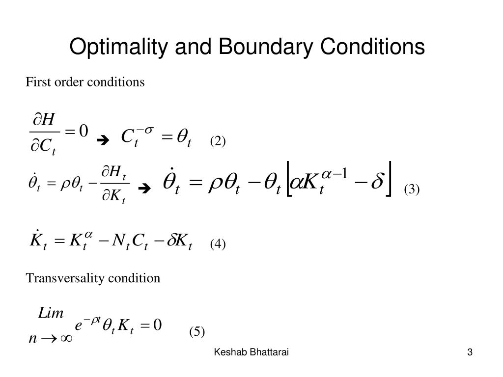 Optimality and Boundary Conditions