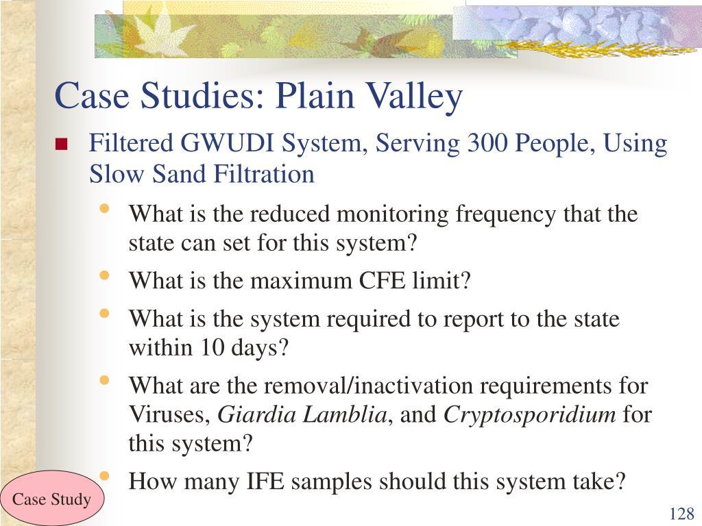 Case Studies: Plain Valley