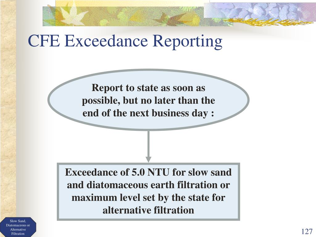 CFE Exceedance Reporting