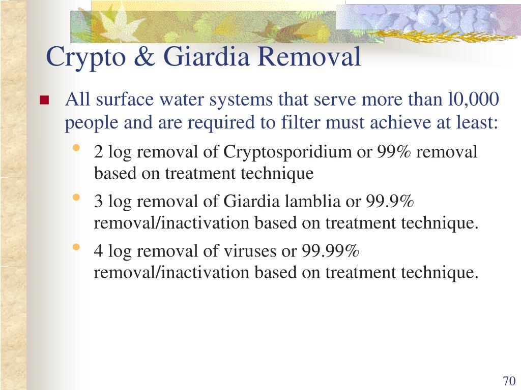 Crypto & Giardia Removal