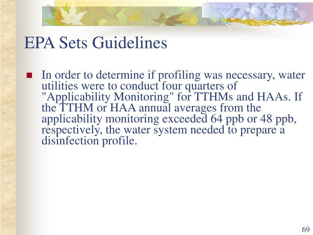 EPA Sets Guidelines