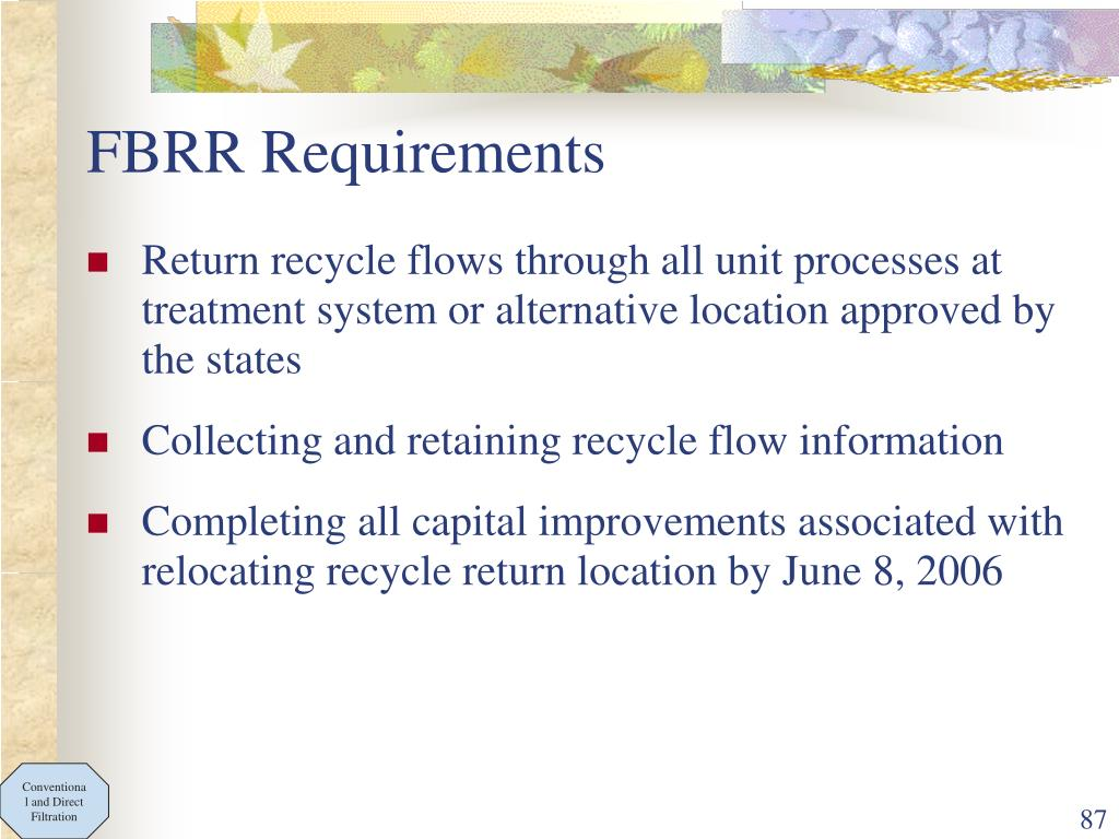 FBRR Requirements