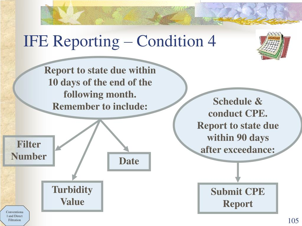 IFE Reporting – Condition 4