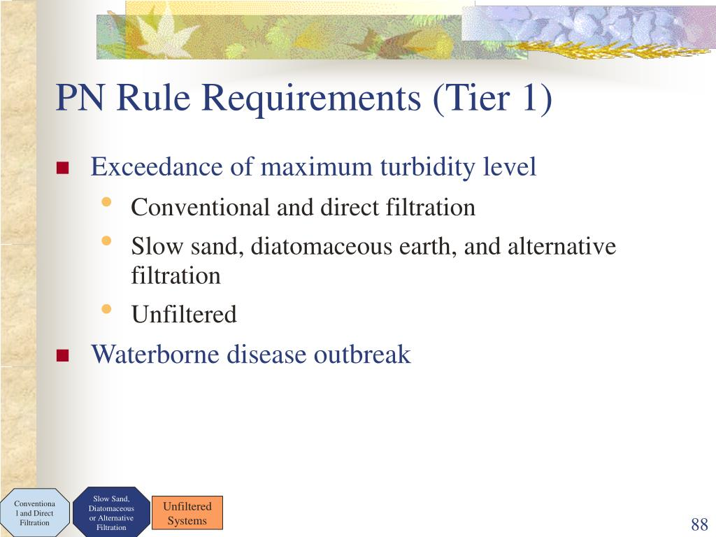 PN Rule Requirements (Tier 1)