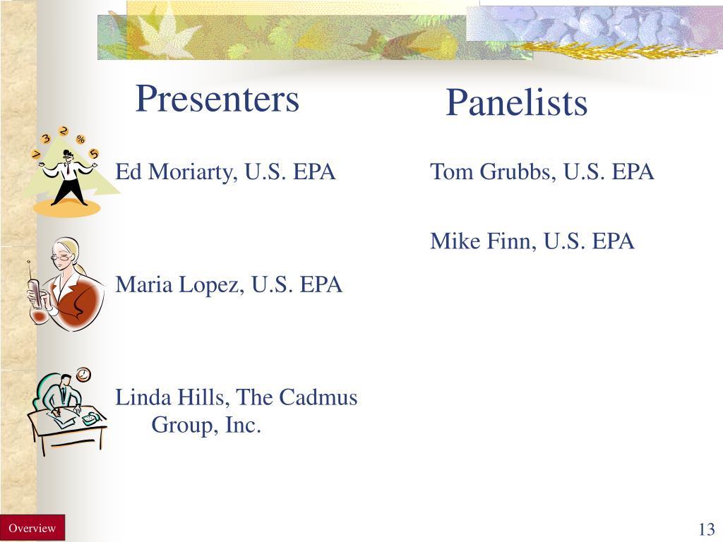 Ed Moriarty, U.S. EPA