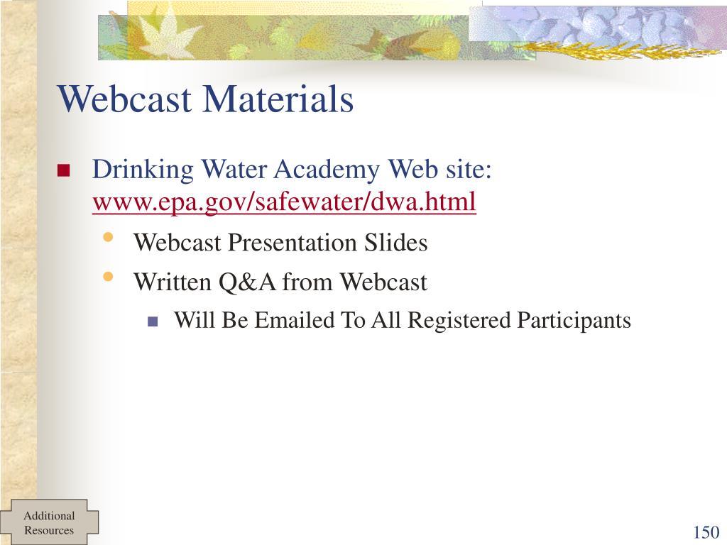 Webcast Materials