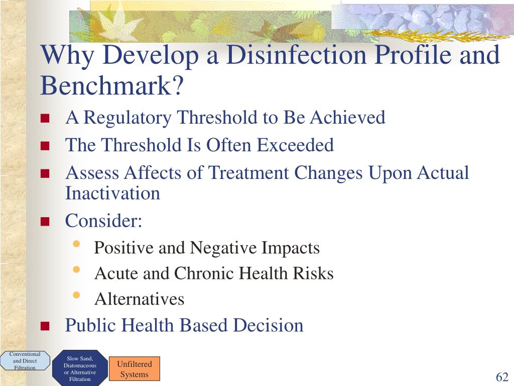 Why Develop a Disinfection Profile and Benchmark?