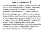 logic consciousness 3