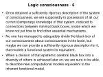 logic consciousness 6