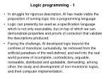 logic programming 1