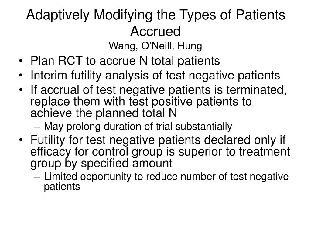 Adaptively Modifying the Types of Patients Accrued