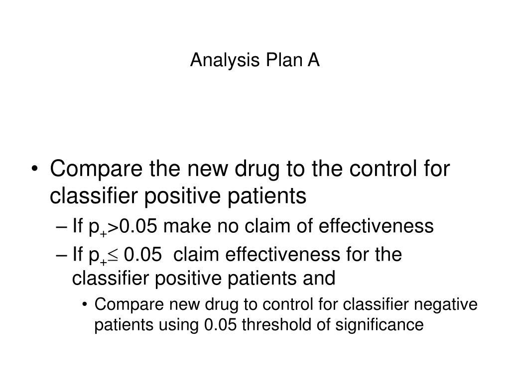 Analysis Plan A