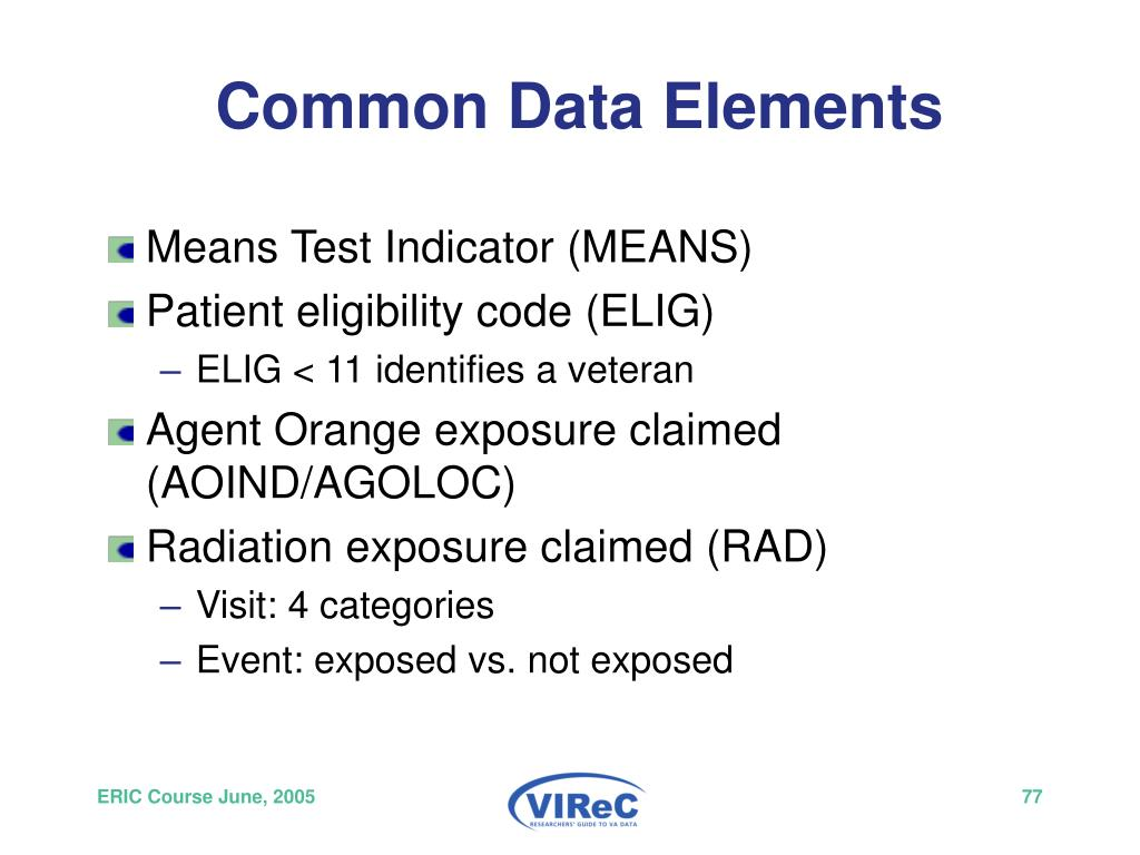 Common Data Elements