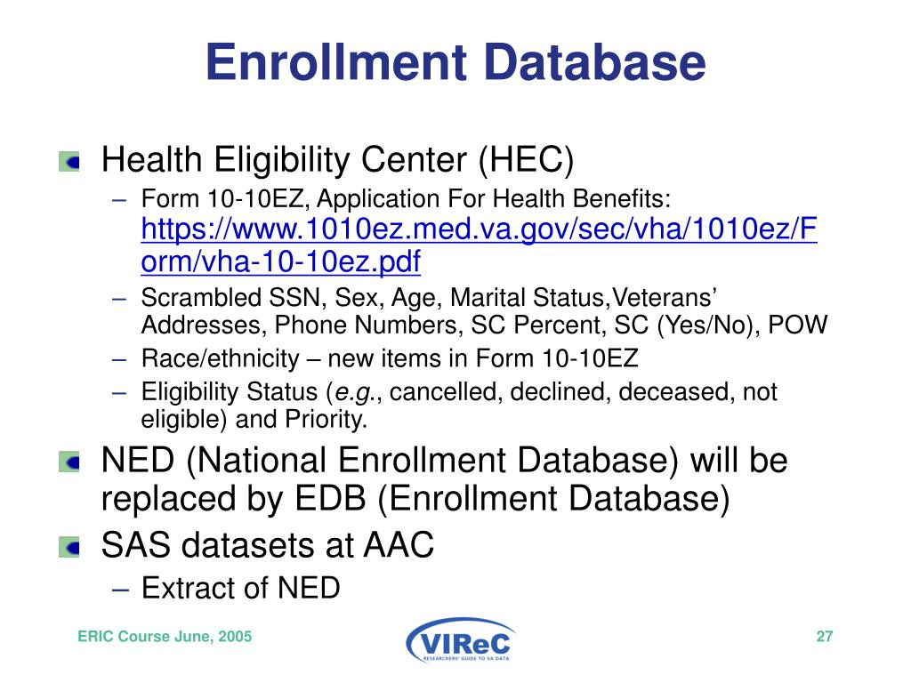 Enrollment Database