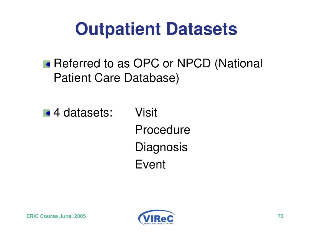 Outpatient Datasets