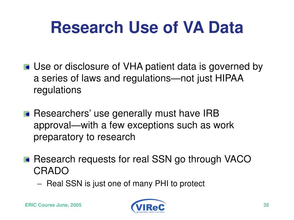 Research Use of VA Data