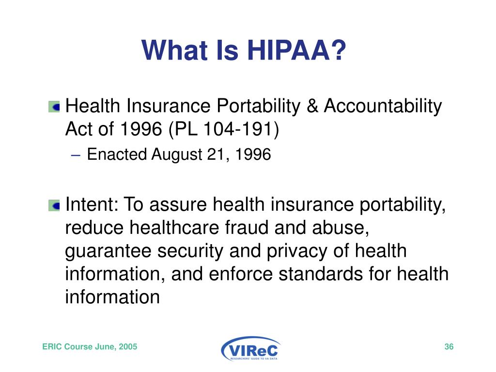 What Is HIPAA?