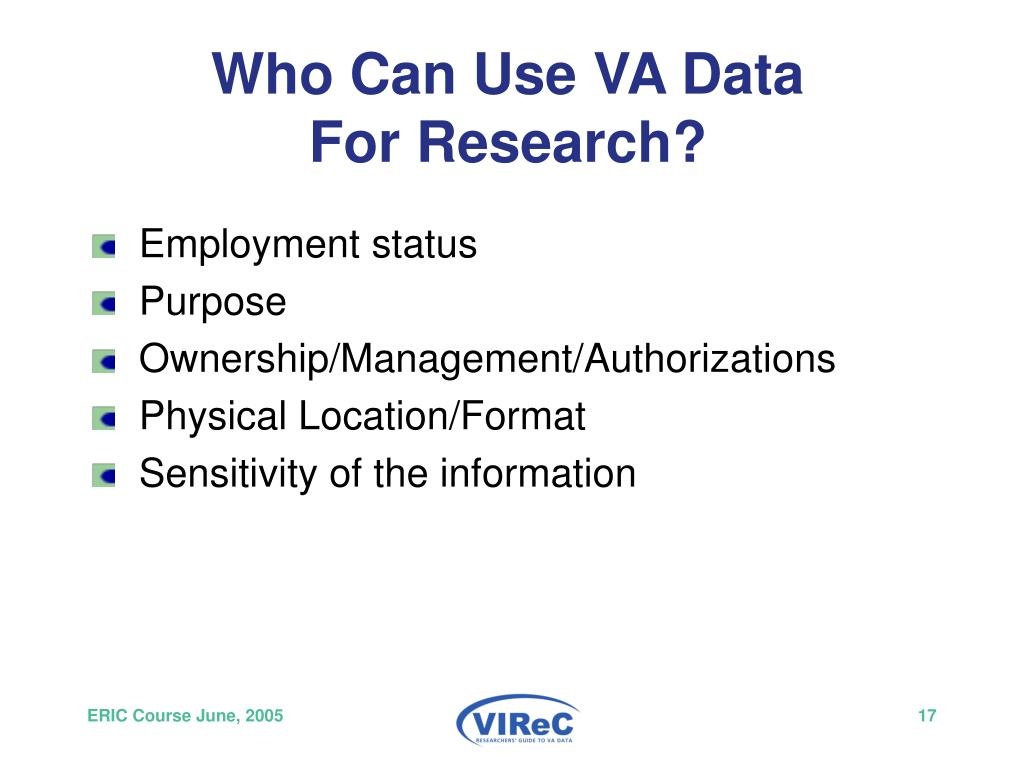 Who Can Use VA Data