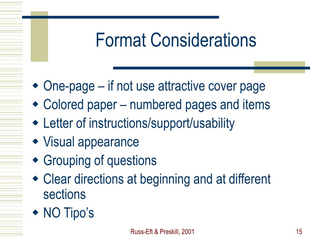 Format Considerations