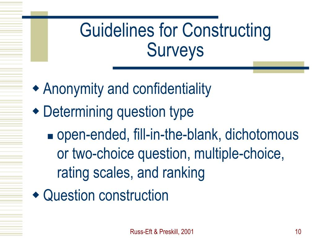 Guidelines for Constructing Surveys