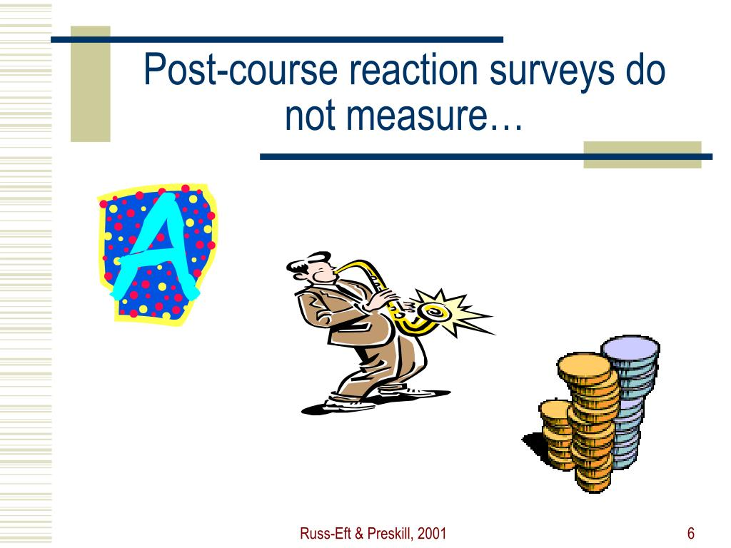 Post-course reaction surveys do not measure…