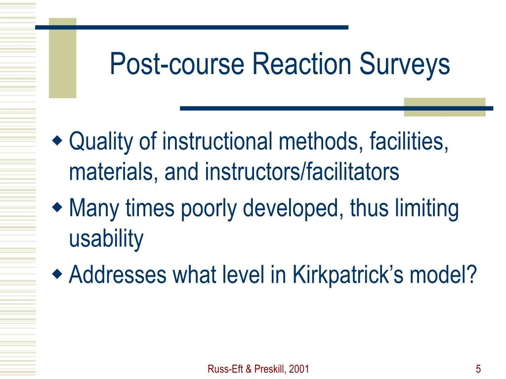 Post-course Reaction Surveys