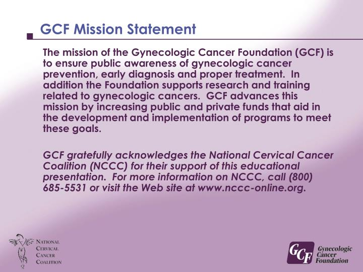 Gcf mission statement
