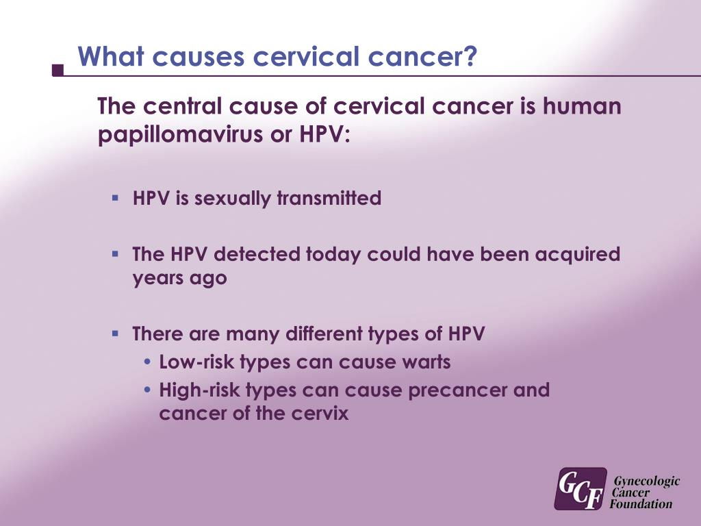 What causes cervical cancer?