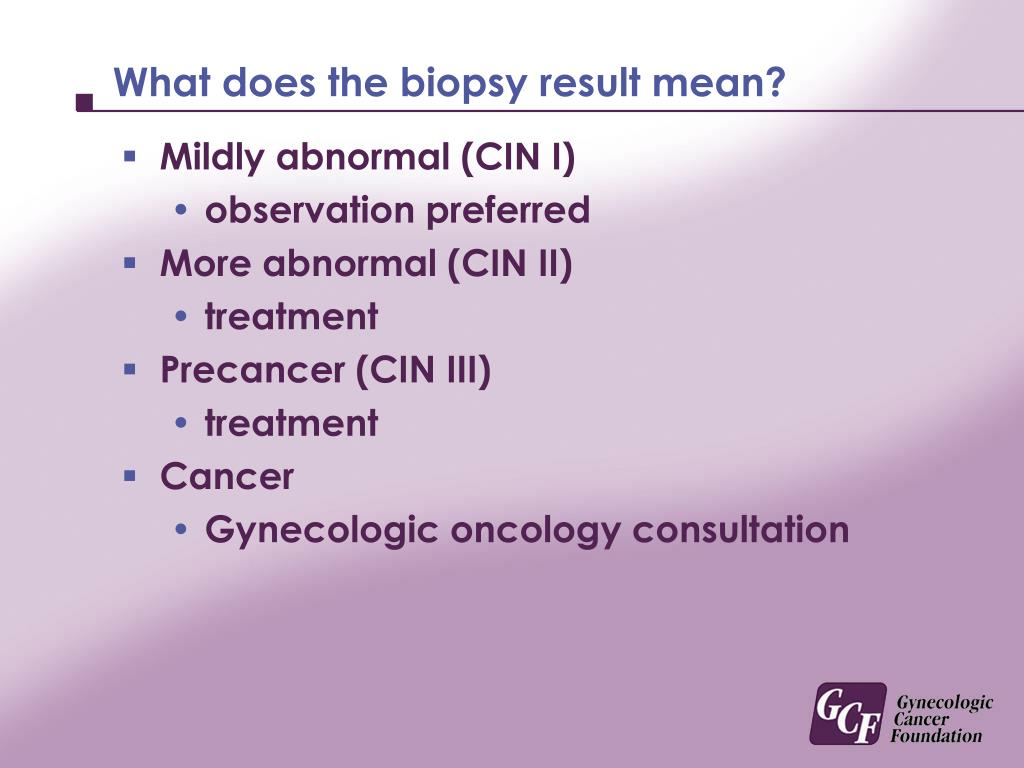 What does the biopsy result mean?